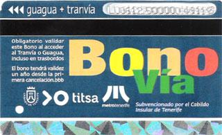 Карта BONO для оплаты проезда в автобусе на Тенерифе