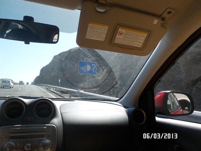 выключи ближний свет при выезде из тоннеля на Тенерифе