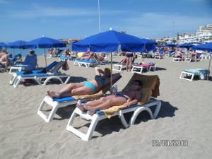 Широкая зона пляжа Лас Витас.