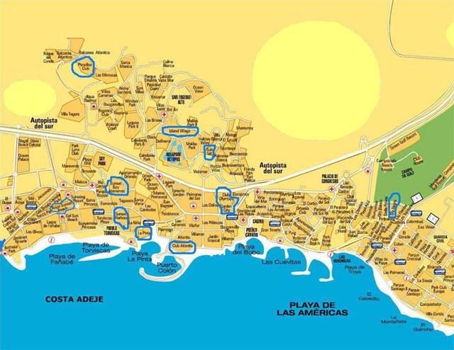 Casta Adeje и Las Americas - главный курорт Тенерифе